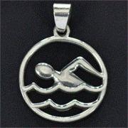 Pingente de Nadador Natação Crawl - 9787