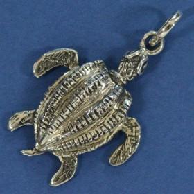 Pingente de Tartaruga de Couro Marinha - 95729