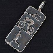 Pingente de Triatlhon Triatlo Natação Ciclismo Corrida - 95886