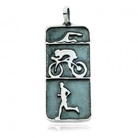 Pingente de Triatlhon Natação Ciclismo Corrida Atleta - 95886