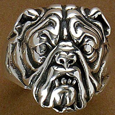 Anel de Cachorro Bulldog - 9309  - Magia das Joias