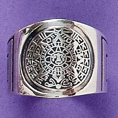 Anel de Calendário Asteca - 1386  - Arte Ativa