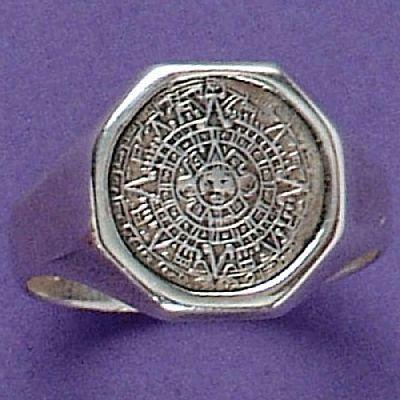 Anel de Calendário Asteca - 1575  - Magia das Joias
