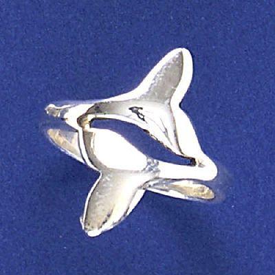 Anel de Caudas de Baleias Pq - 93106  - Magia das Joias