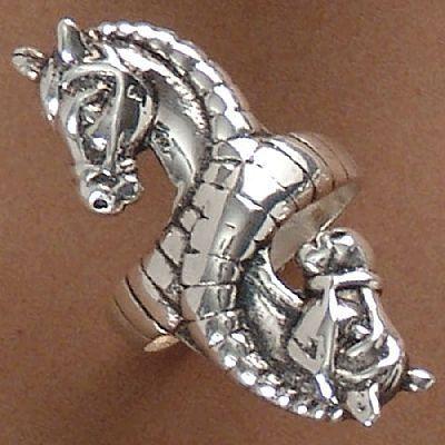 Anel de Cavalos - 93166  - Magia das Joias