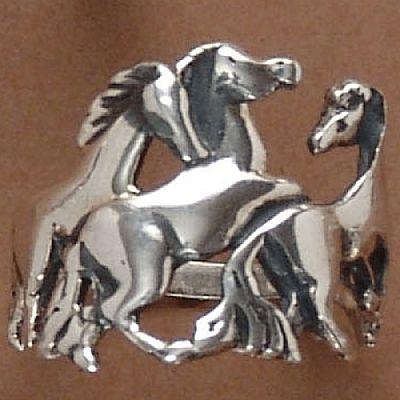 Anel de Cavalos  - 93177  - Magia das Joias
