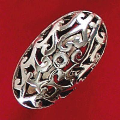 Anel de Desenho Geométrico - 4550  - Magia das Joias