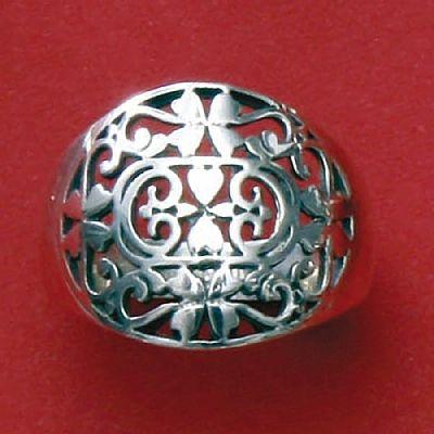 Anel de Desenhos Geométrico - 15742  - Magia das Joias