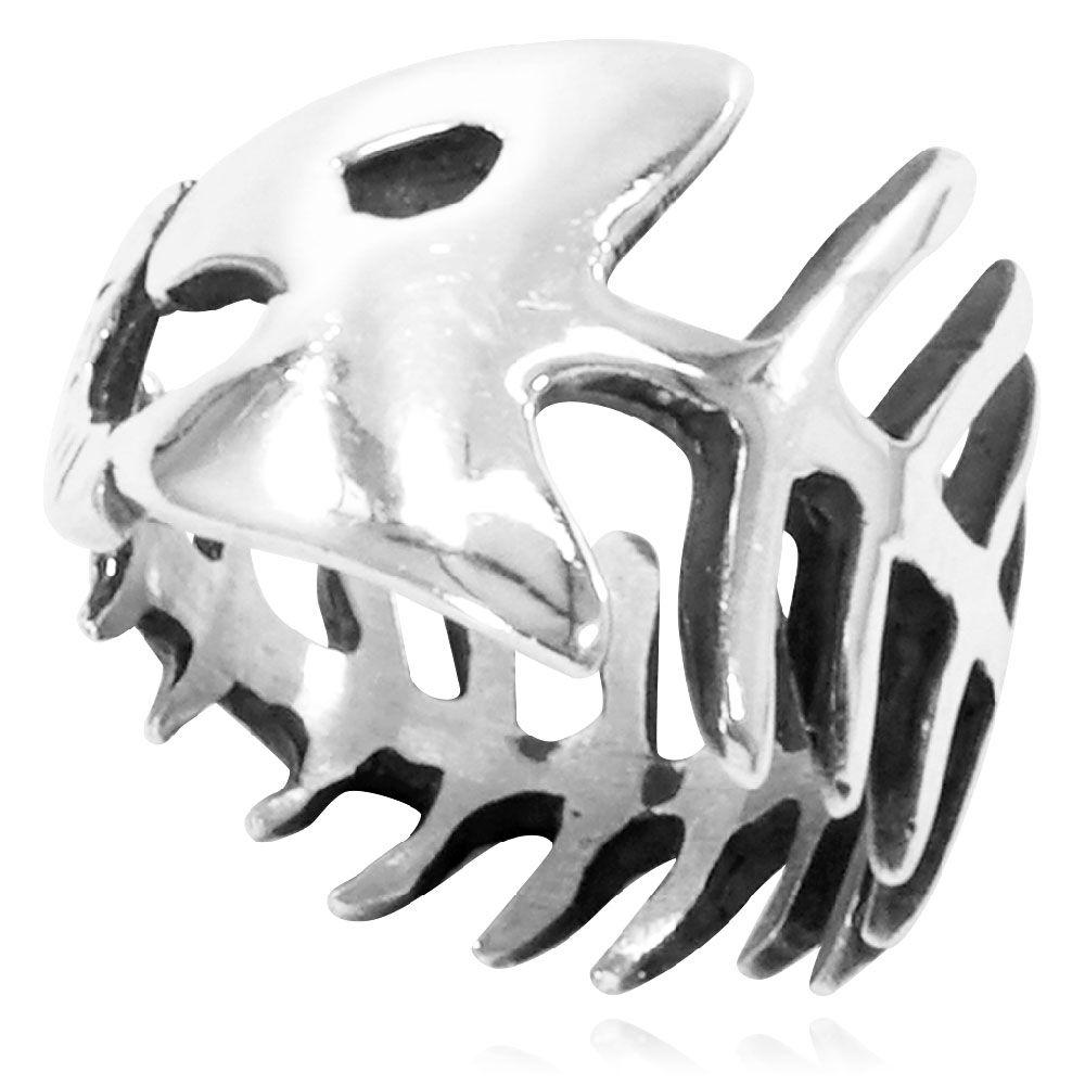 Anel de Espinha de Peixe - 15567  - Arte Ativa