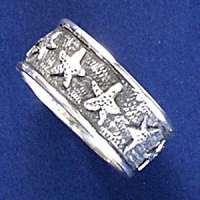 Anel de Estrelas-do-Mar - 1330  - Magia das Joias