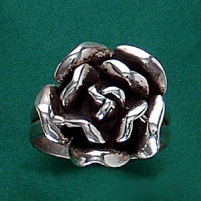 Anel de Flor Rosa - 15297  - Magia das Joias