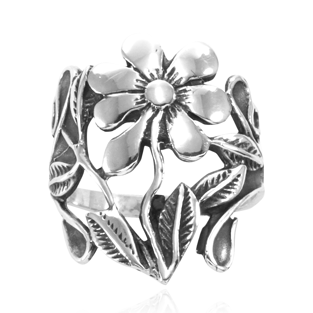 Anel de Flor Flores - 15562  - Arte Ativa