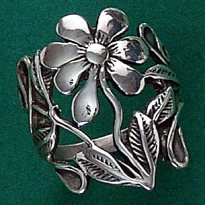 Anel de Flores - 15562  - Magia das Joias