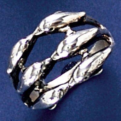 Anel de Golfinhos - 4589  - Magia das Joias
