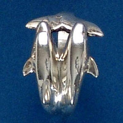 Anel de Golfinhos - 9305  - Magia das Joias
