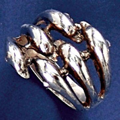 Anel de Golfinhos - 93126  - Magia das Joias