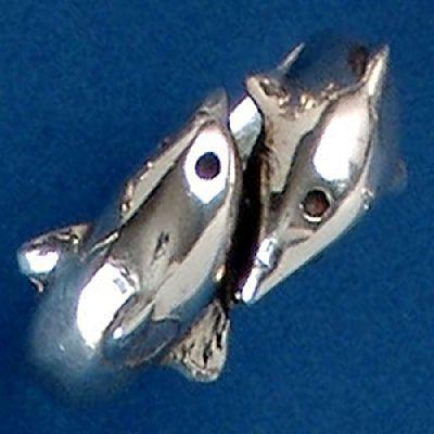 Anel de Golfinhos - 9378  - Magia das Joias