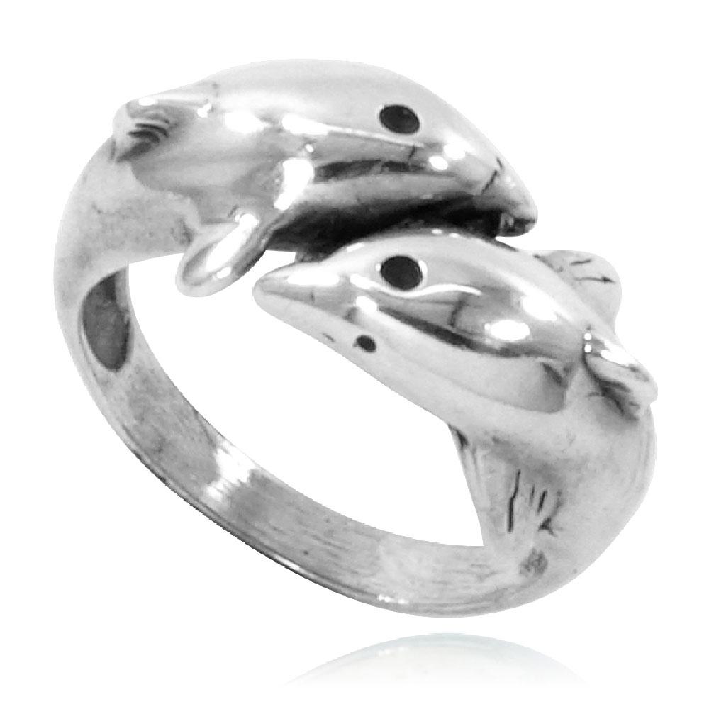 Anel de Golfinhos - 9378  - Arte Ativa