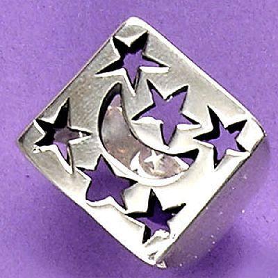 Anel de Lua e Estrelas - 15556  - Magia das Joias