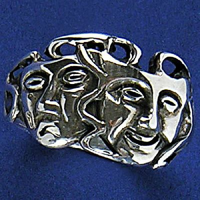 Anel de Máscaras de Teatro - 15241  - Arte Ativa