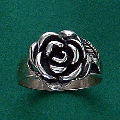 Anel de Rosa Flor - 1356  - Magia das Joias