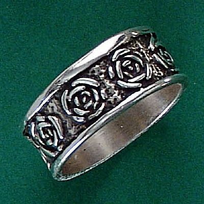 Anel de Rosas Flor - 1511  - Magia das Joias