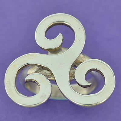 Anel de Trisquele Triskle (aberto) - 15906  - Arte Ativa