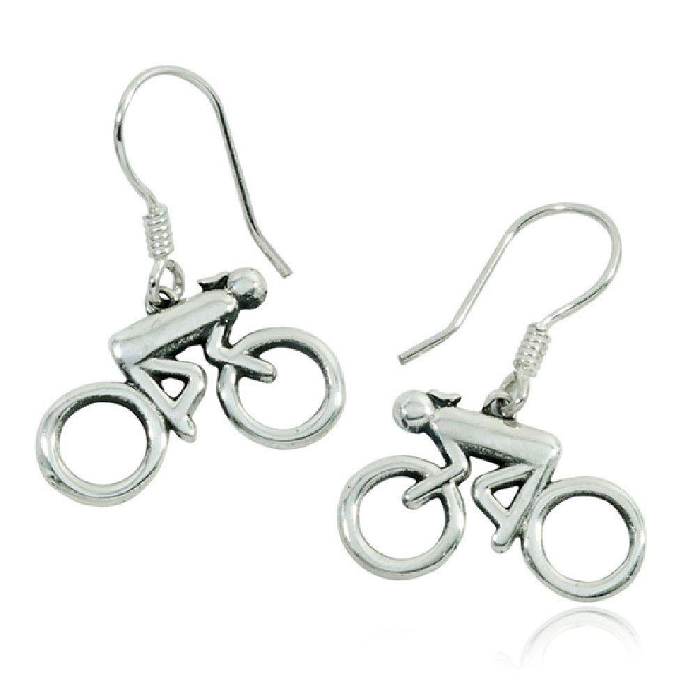 Brinco de Bicicleta Ciclista Mulher - 94393  - Magia das Joias