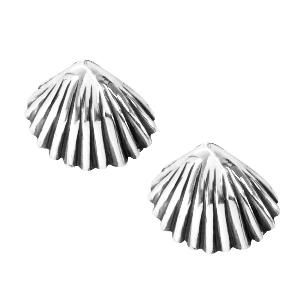 Brinco de Concha do Mar em Prata 950 - 9429  - Magia das Joias
