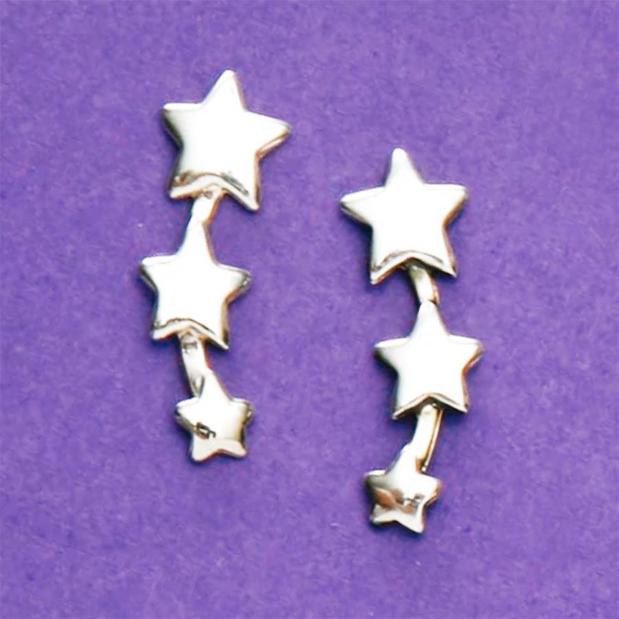 Brinco de Estrelas - 36194  - Magia das Joias