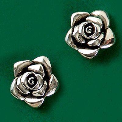 Brinco de Rosa - 36158  - Magia das Joias