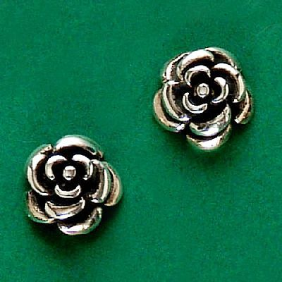 Brinco de Rosa - 9446  - Magia das Joias