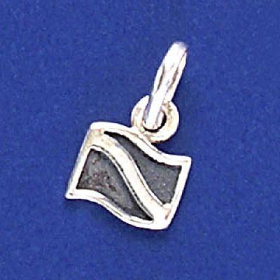 Pingente de Bandeira de Mergulho - 33191  - Magia das Joias