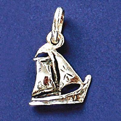 Pingente de Barco à Vela - 9528  - Magia das Joias