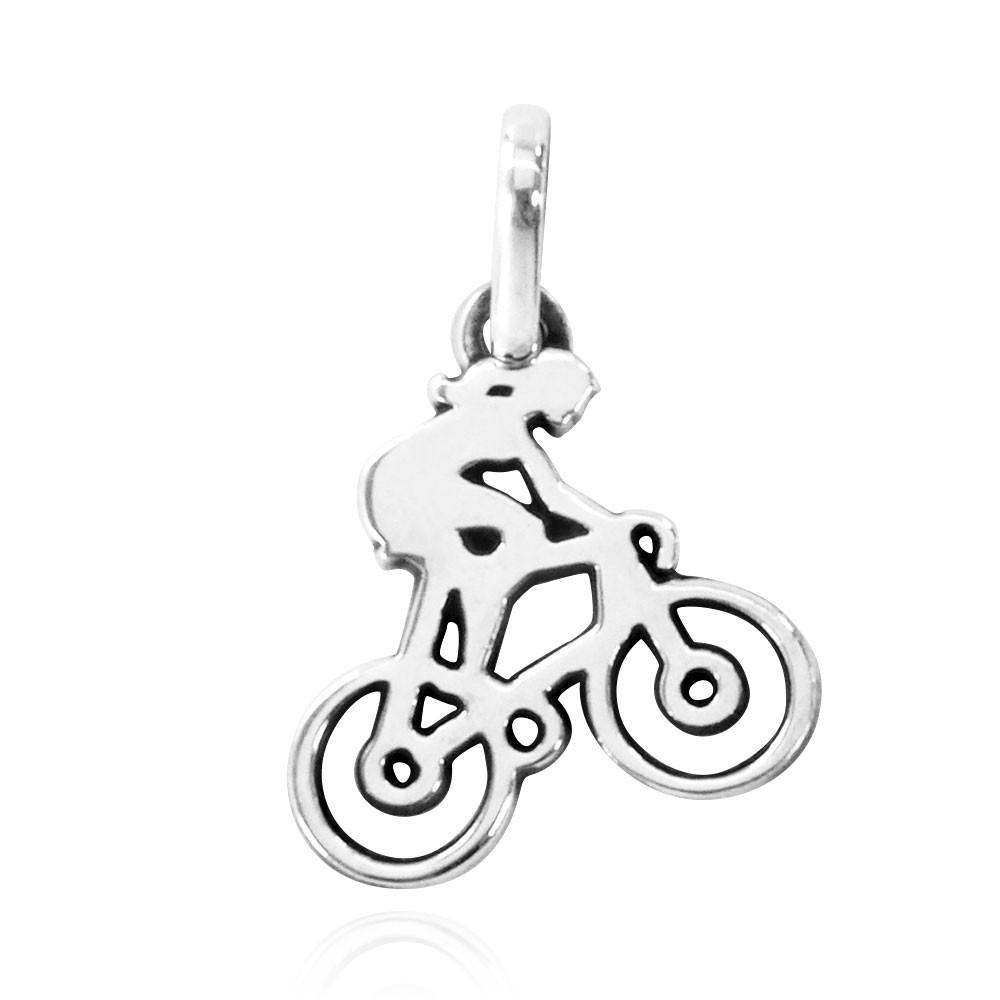 Pingente de Bicicleta Ciclista Mulher Pequena - 96163  - Arte Ativa
