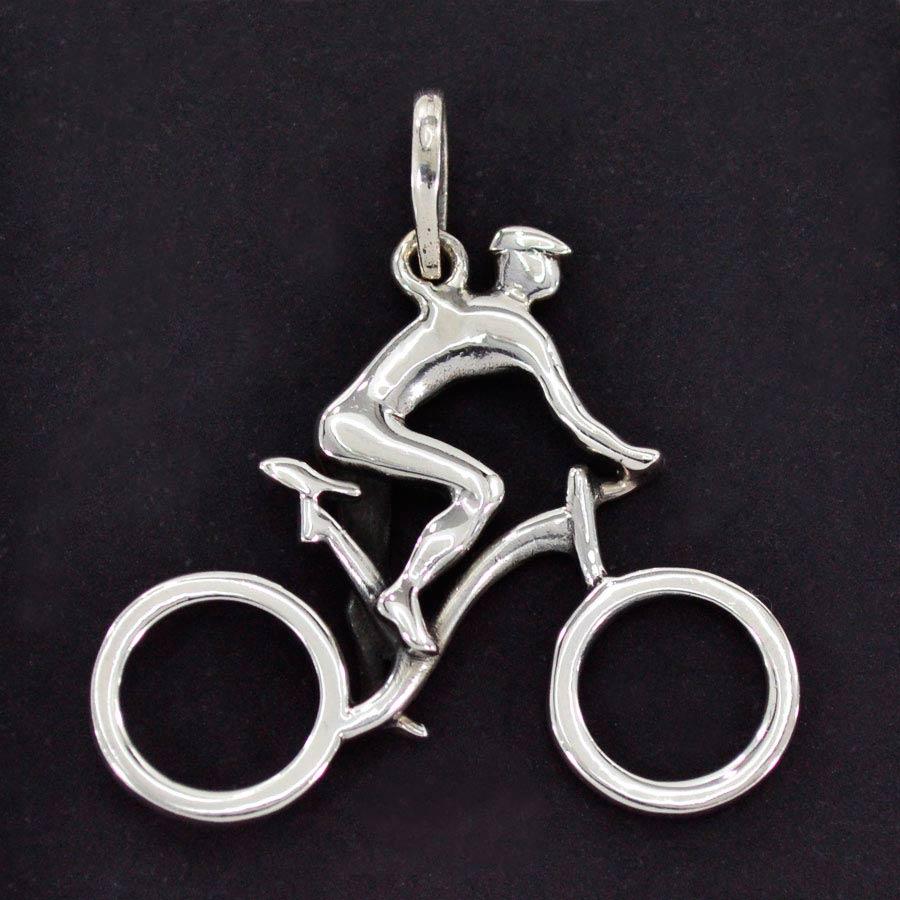 Pingente de Bicicleta Ciclista Passeio Competições - 95904  - Magia das Joias