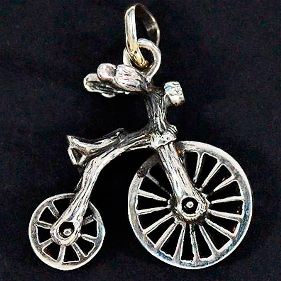 Pingente de Bicicleta Draisiana Antiga - 9725  - Magia das Joias