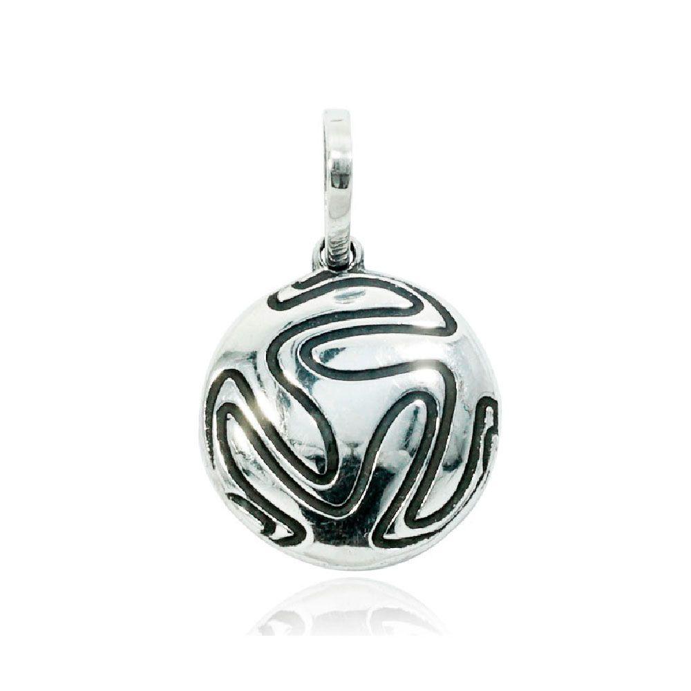 Pingente de Bola de Futebol - 9707  - Magia das Joias