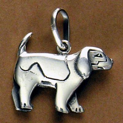 Pingente de Cachorro Beagle - 95461  - Magia das Joias