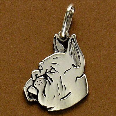 Pingente de Cachorro Boxer - 95447  - Magia das Joias