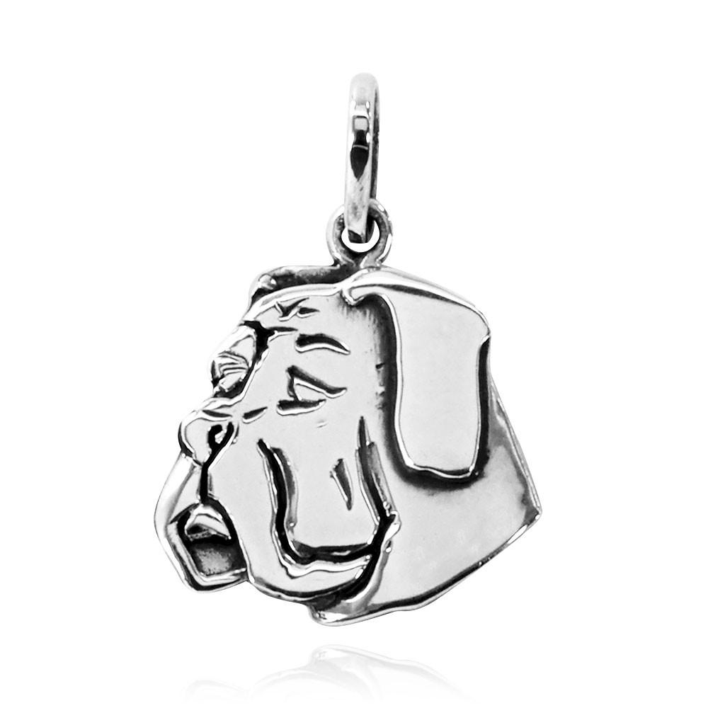 Pingente de Cachorro Bulldog Orelha Baixa - 95456  - Magia das Joias
