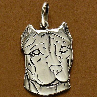 Pingente de Cachorro Dogo Argentino - 95435  - Magia das Joias