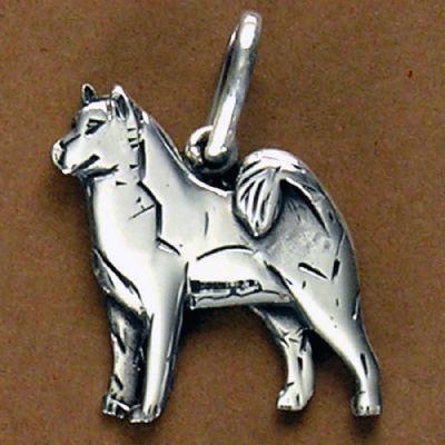 Pingente de Cachorro Husky Siberiano - 95446  - Magia das Joias