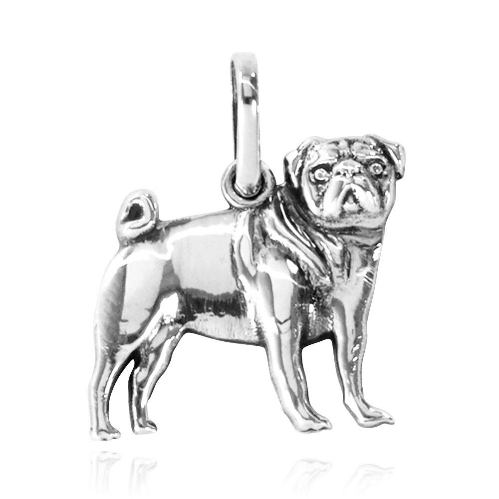 Pingente de cachorro Pug - 96155  - Magia das Joias