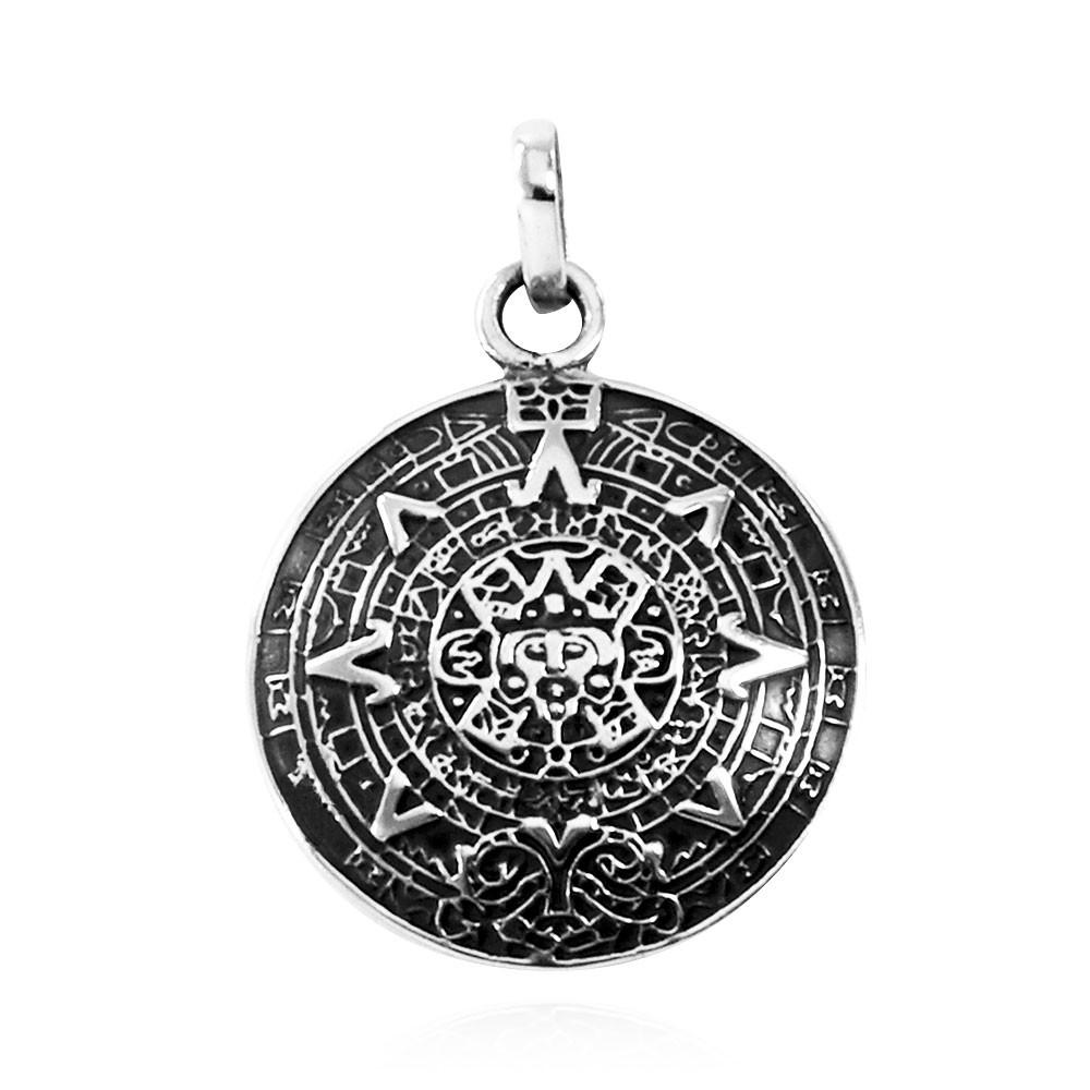 Pingente de Calendário Asteca - 33212  - Magia das Joias
