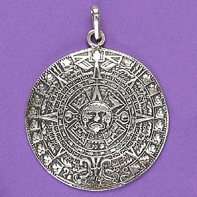 Pingente de Calendário Asteca - 33227  - Magia das Joias