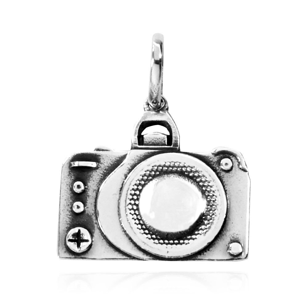 Pingente de Câmera Fotográfica - 9612  - Magia das Joias