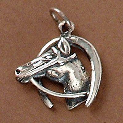 Pingente de Cavalo e Ferradura - 95113  - Magia das Joias