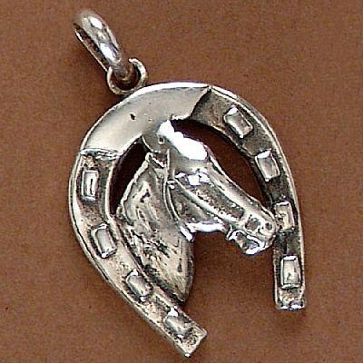 Pingente de Cavalo e Ferradura - 95134  - Magia das Joias