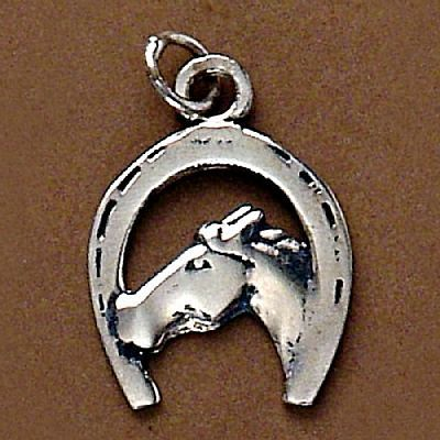 Pingente de Cavalo e Ferradura - 95191  - Magia das Joias